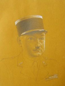 Portrait du capitaine Goruchon, commandant du camp des Milles pendant la période de 1939 à 1940, par Hans Bellmer.