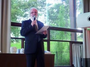 Le nouveau président de la FFAP, Claude Desarménien, élu pendant le congrès du 16 juin 2012.